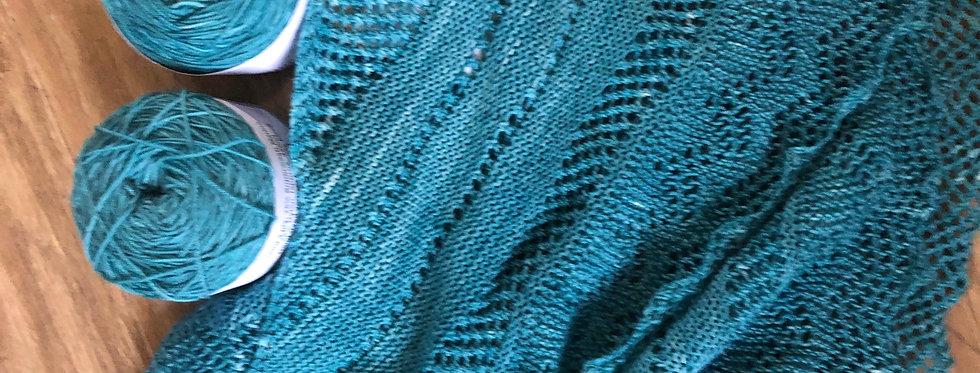 Laceby  Knitted Shawl Set