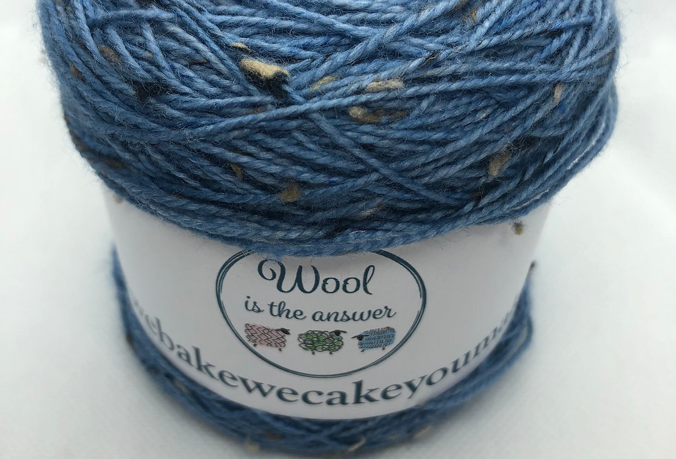 Hand Dyed 4 ply Superwash Merino and Donegal Nep Navy