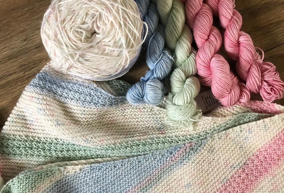 Lulu's Sundae Knitted Shawl Set