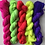 Thumbnail: 5 x 20g Tonal Solid Mini Skeins: Neons