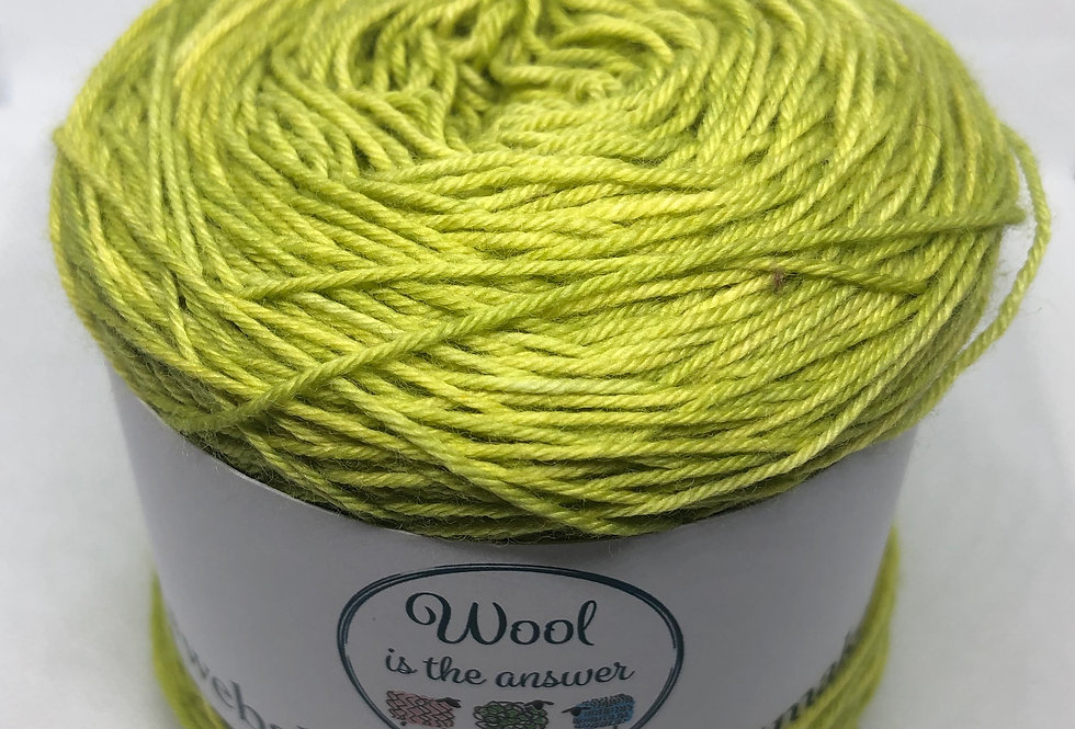 Hand Dyed 4 ply Superwash Olive