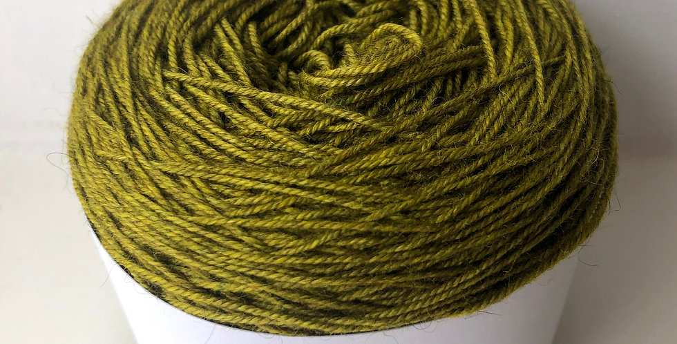 Hand Dyed 4 ply Superwash Merino/Yak/Nylon:Olive