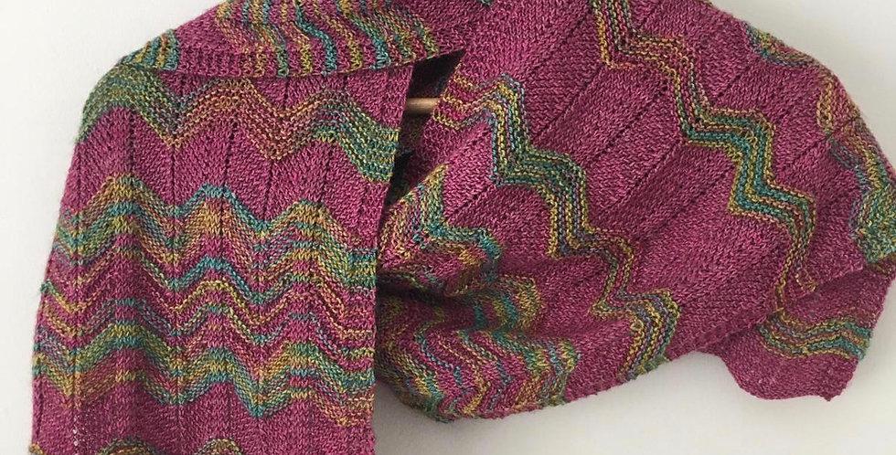 Shawlly not a Chevron! Knitted Shawl Set