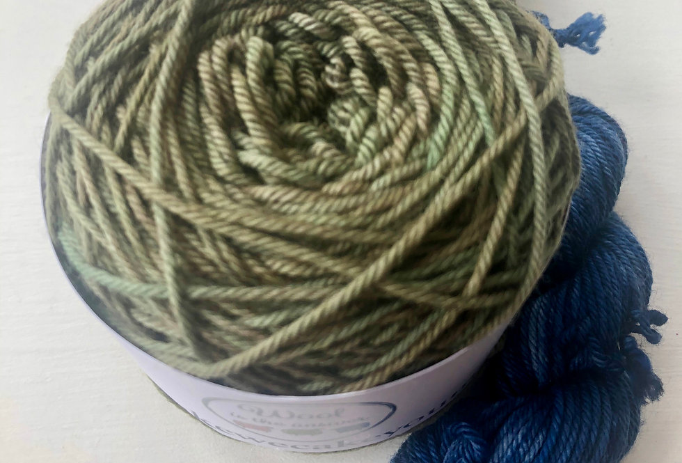(One of a Kind ) DK Sock Set : Swampy