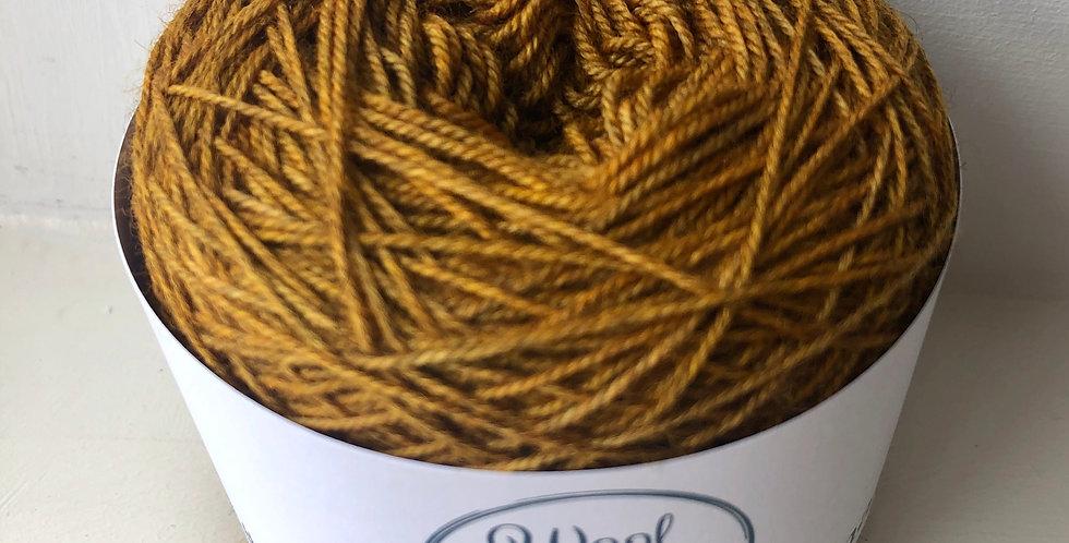 Hand Dyed 4 ply Superwash Merino/Yak/Nylon: Mustard
