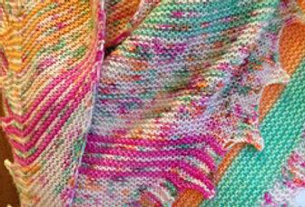 Ridge and Furrow Shawl Pattern