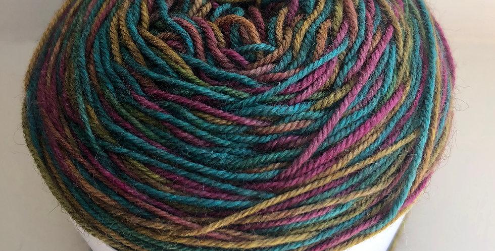 Hand Dyed 4 ply Superwash Merino/Yak/Nylon: Truly Scrumptious