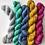Thumbnail: 5 x 20g Tonal Solid Mini Skeins: Hopscotch