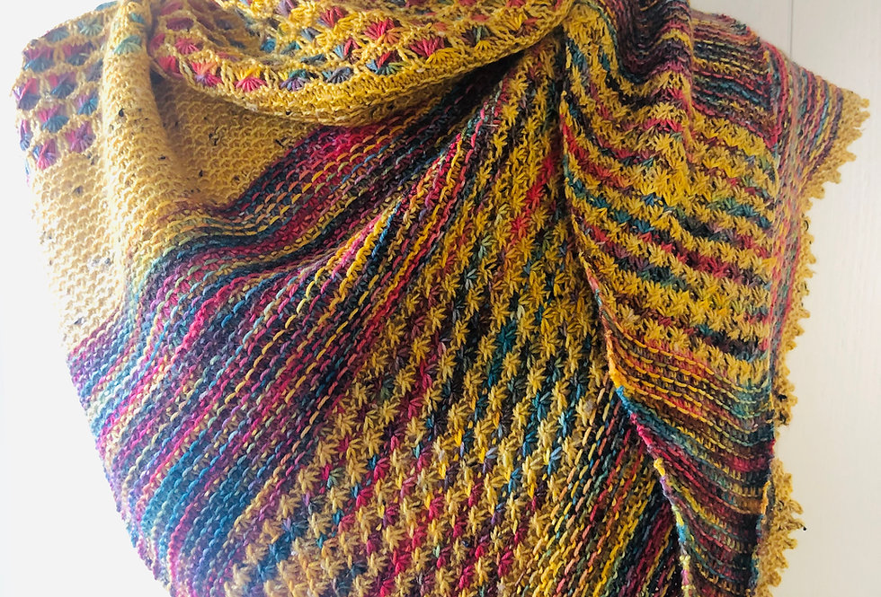 Kingerby Meadow Knitted Shawl Set