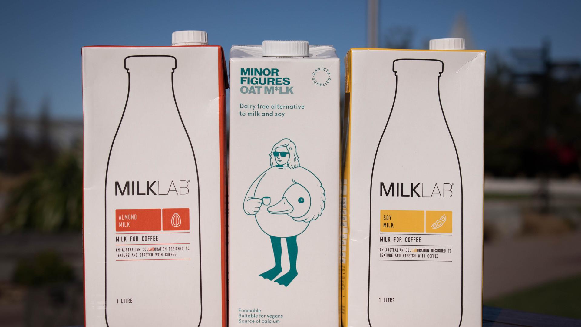 Our Dairy Free milks