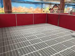 Sure-Step Kennel Flooring installed in Commercial Dog Kennel