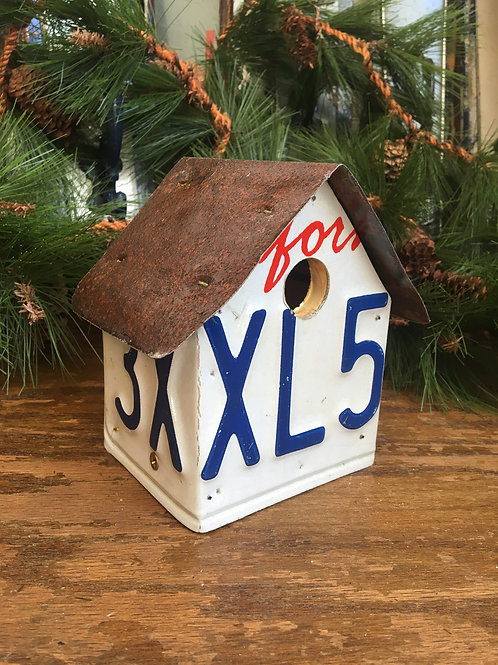 California Licence Plate Bird House