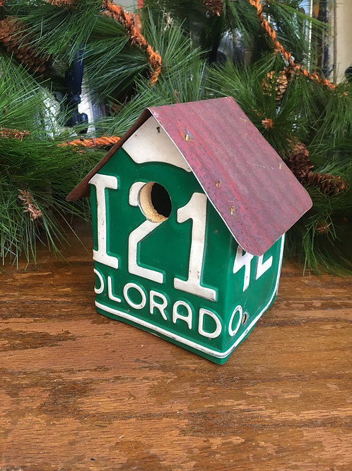 Colorado Licence Plate Birdhouse