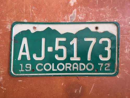 1972 Colorado Plate