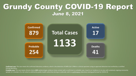 Grundy County COVID-19 Update (06.08.2021)