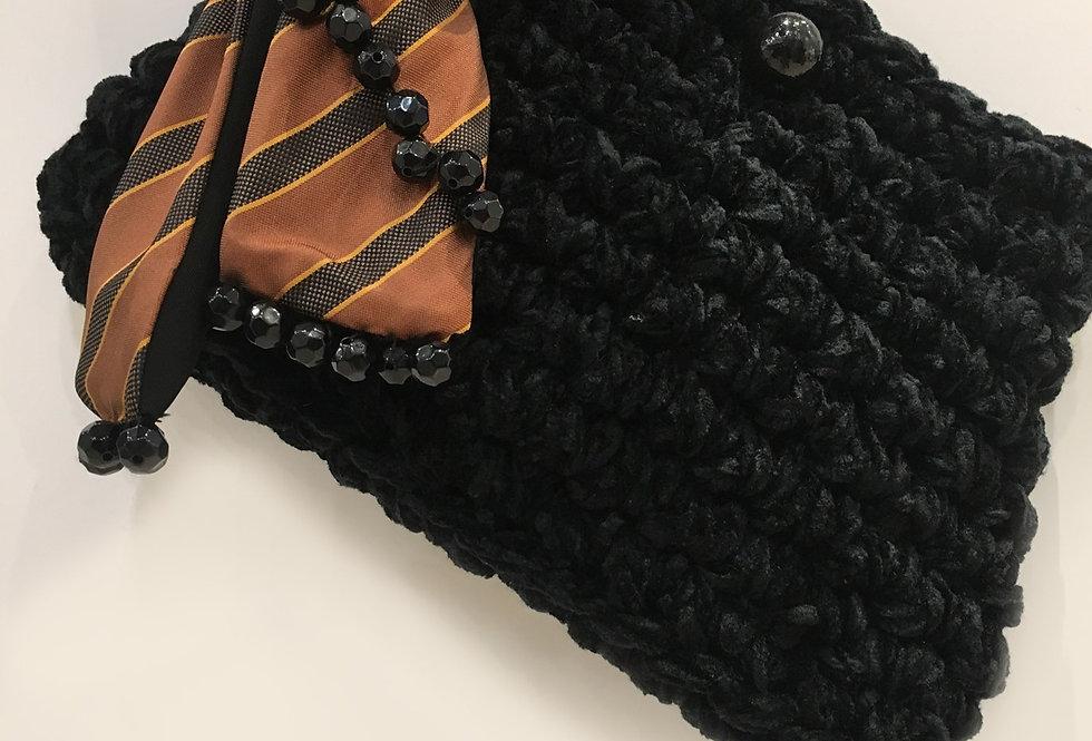 Cloe Black Fancy Tie