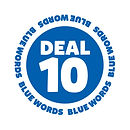 Blank It blue word sticker - Deal 10