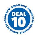 Blank It blue word sticker - Deal 10