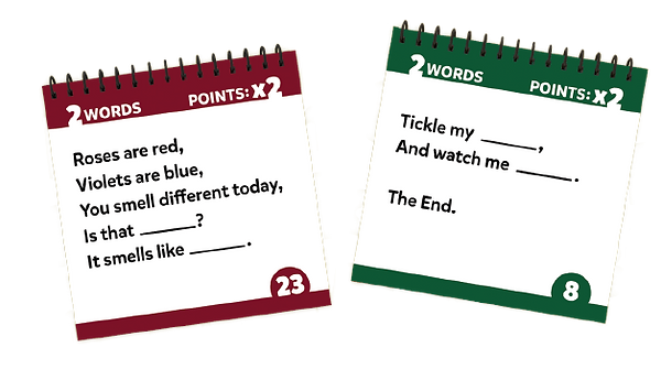 Blank It booklets - Roes Are Red and Petite Poem