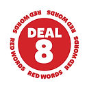 Blank It red word sticker - Deal 8