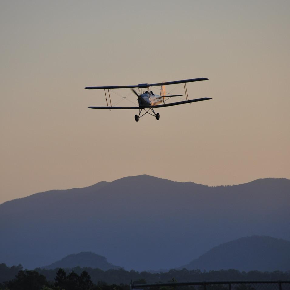 Boonah Airfield biplane