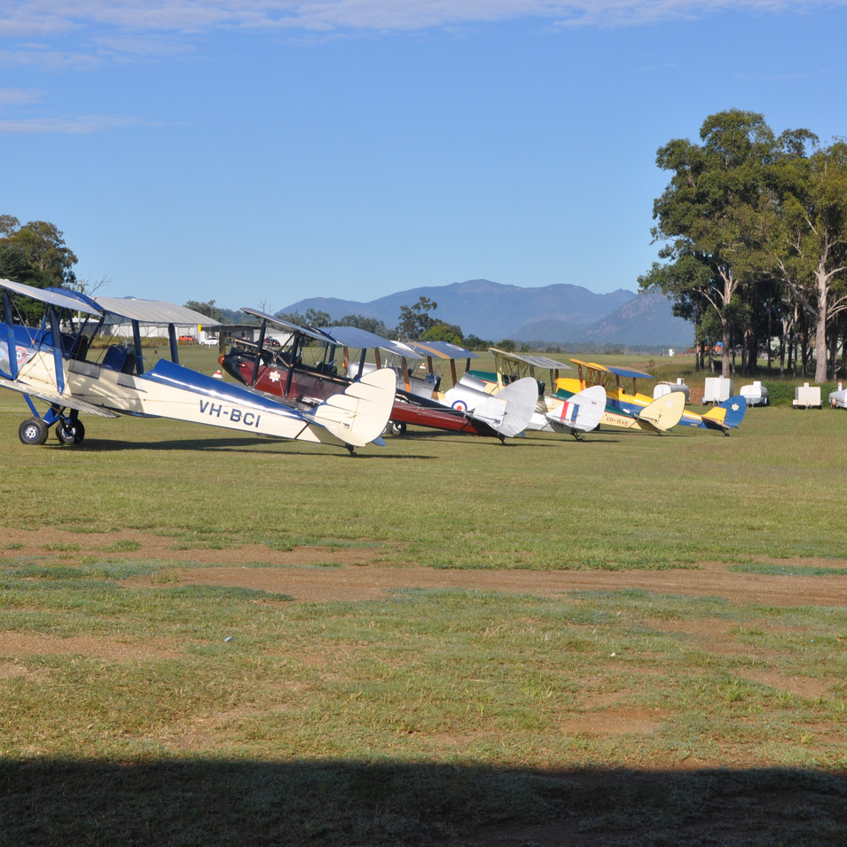 Tiger Moth biplanes Boonah Airfield