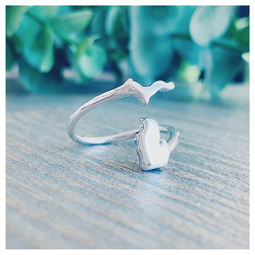 Silver Michigan Wrap Ring
