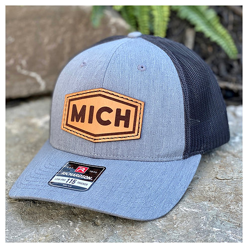 MICH Leather Patch Hat