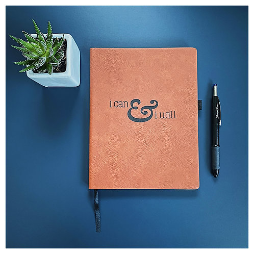 I Can and I Will Engraved Journal