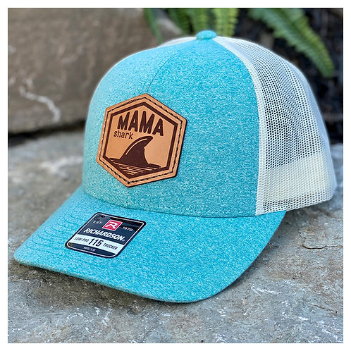 Mama Shark Leather Patch Hat