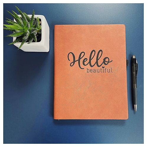 Hello Beautiful Engraved Journal