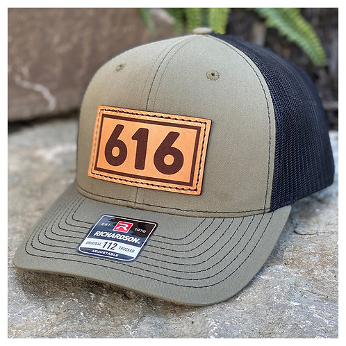 Area Code Leather Patch Hat