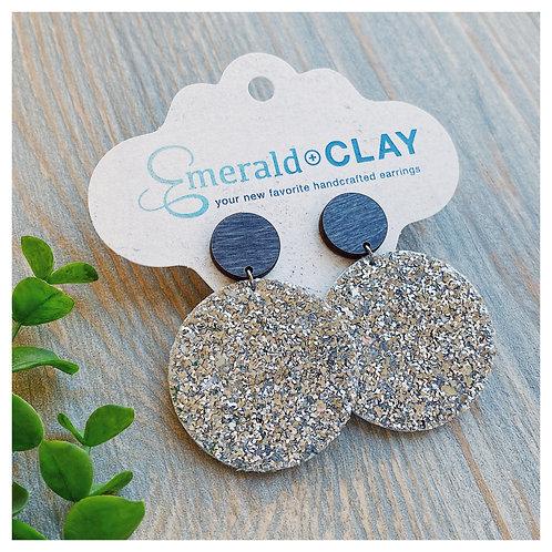 Silver Chunky Glitter Circle