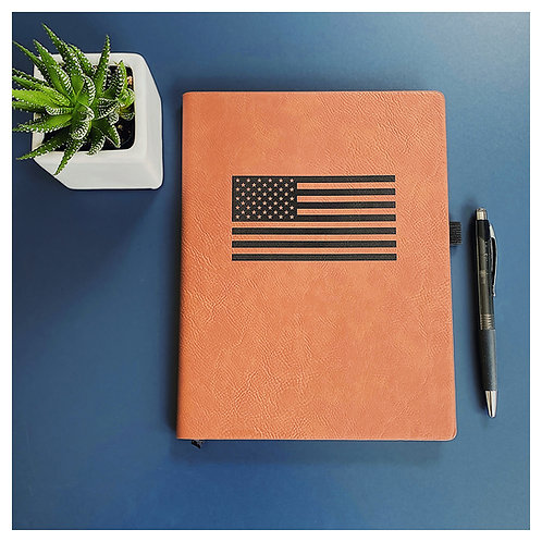 American Flag Engraved Journal