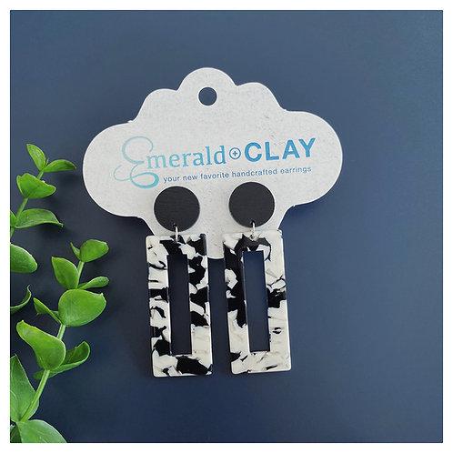 Black + White Camo Acrylic Rectangle
