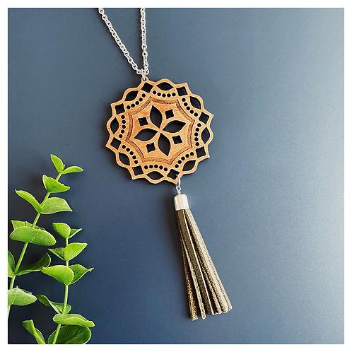 Mandala + Tassel Necklace