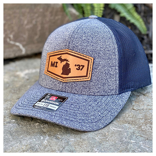 MI '37 Leather Patch Hat