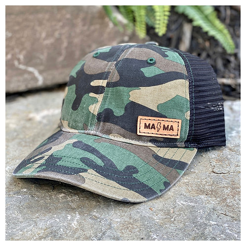 MA⚡️MA Leather Patch Hat