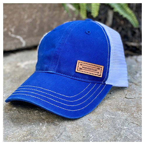 Wanderlust Leather Patch Hat