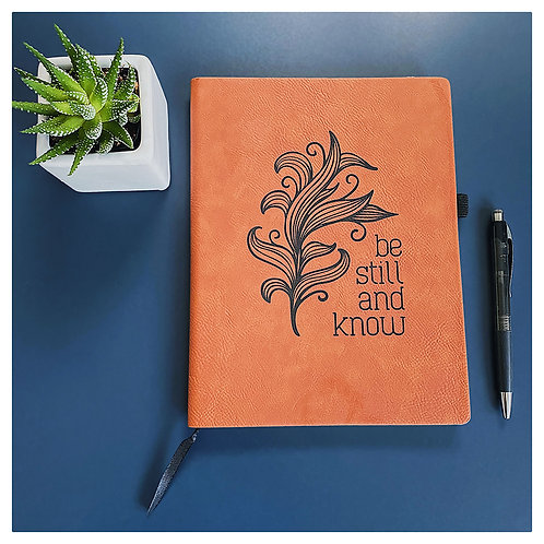 Be Still and Know Engraved Journal