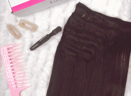 clip-in extensions + lovrio hair review