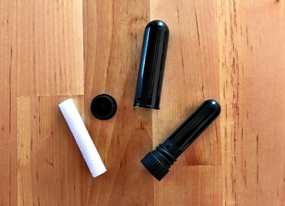 10pcs Black Blank Inhalers [w Cotton Wick]
