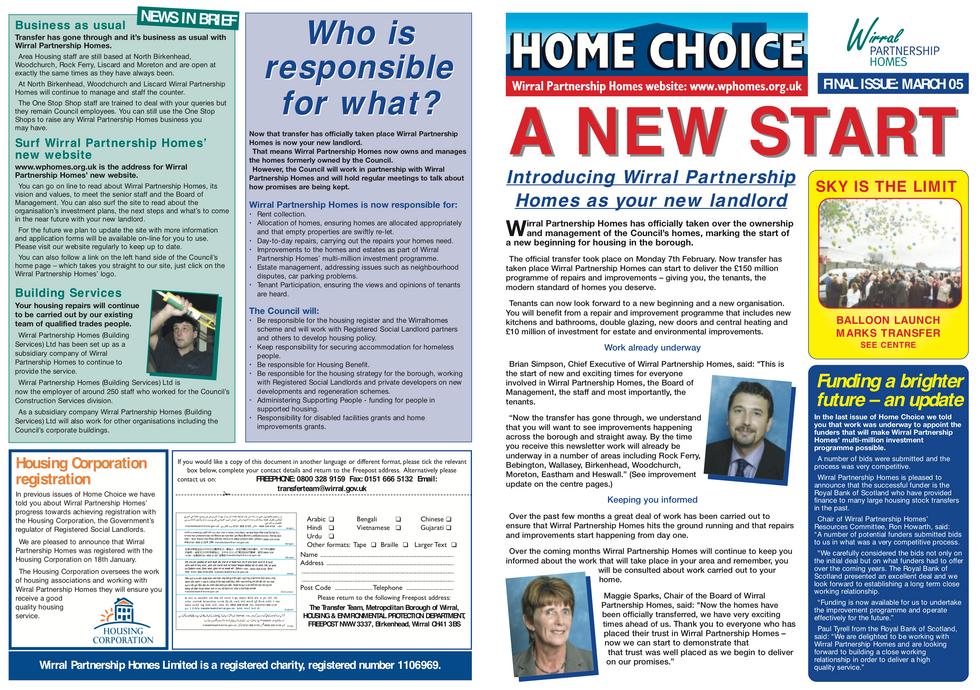 Home Choice - A New Start