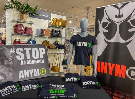 Vente de tee-shirt ANYMO au Profit du Refuge Animalier Un Gite Une Gamelle.