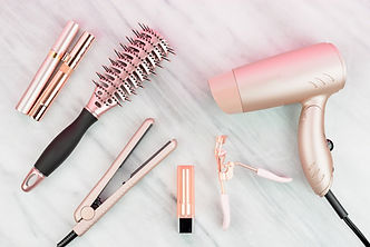Rose gold hair care and beauty products
