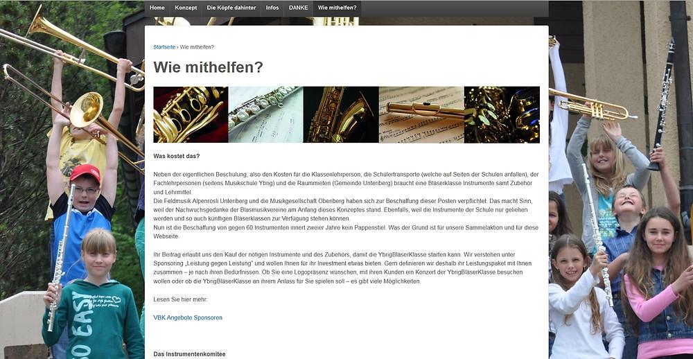 Wordpress-Webseite erstellt durch Office Helpers