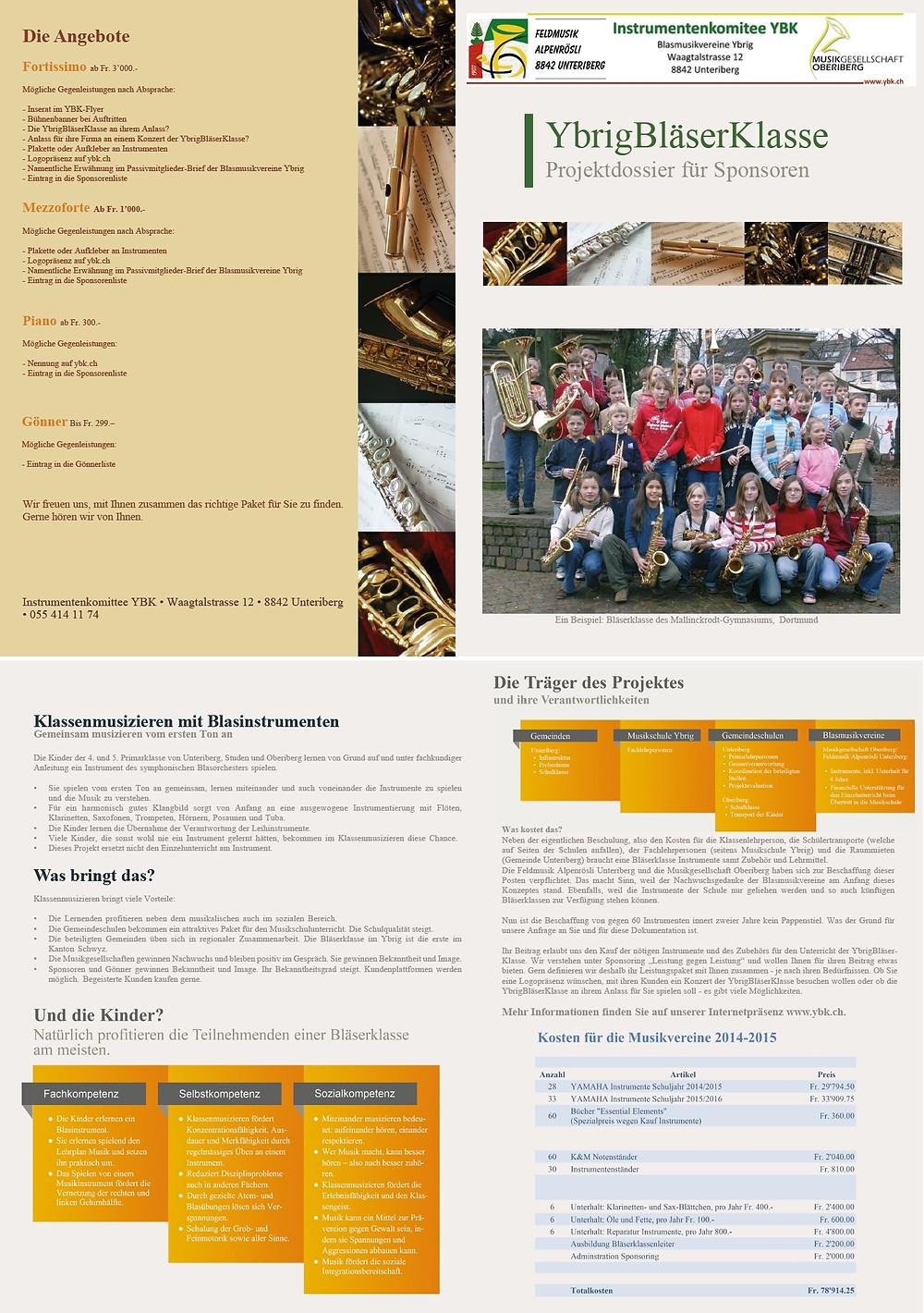 Sponsoringdossier erstellt und gedruckt durch Office Helpers