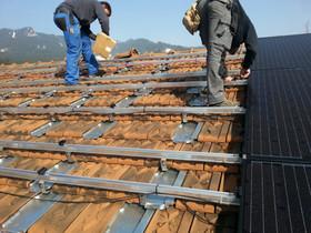 Unterkonstruktion für Solargenerator