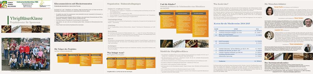 Faltblatt zur Ybrig Bläserklasse von Office Helpers
