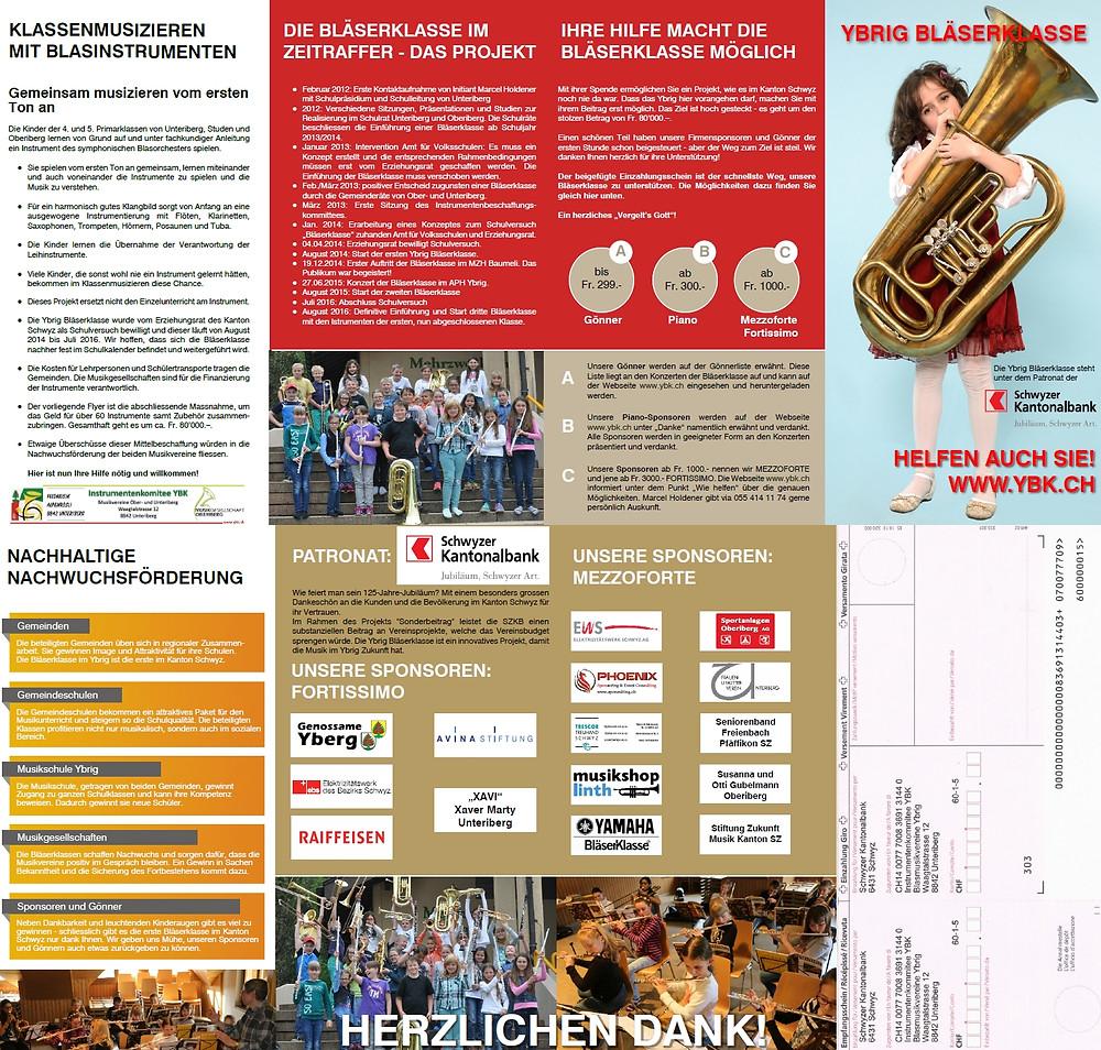 Faltblatt mit abtrennbarem Einzahlungsschein von Office Helpers